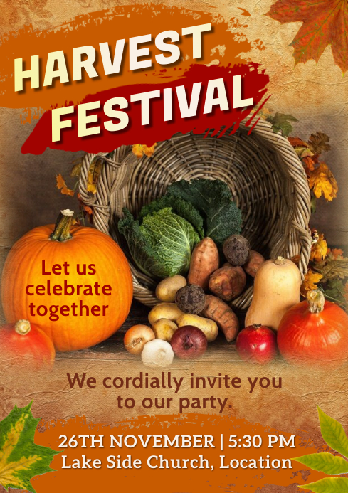 Harvest Festival Poster A4 template