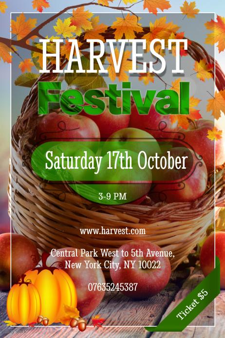 Harvest Festival Poster template
