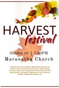 fall festival template
