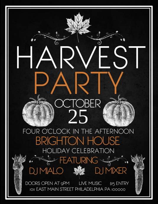 Harvest Party Ulotka (US Letter) template