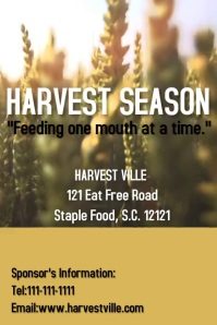 Harvest Season Poster template