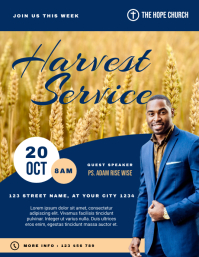 Harvest Service Church Flyer