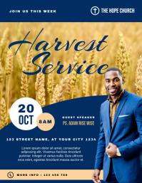 Harvest Service Church Flyer