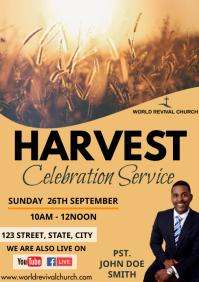Harvest service A3 template