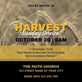 Harvest Sunday Service Church Invitation