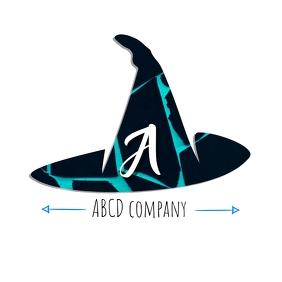 Hat logo with alphabet