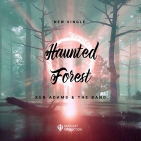 haunted Forest Soundtrack promote ad Album Cover template