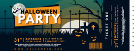 Haunted Halloween Party Ticket Design template