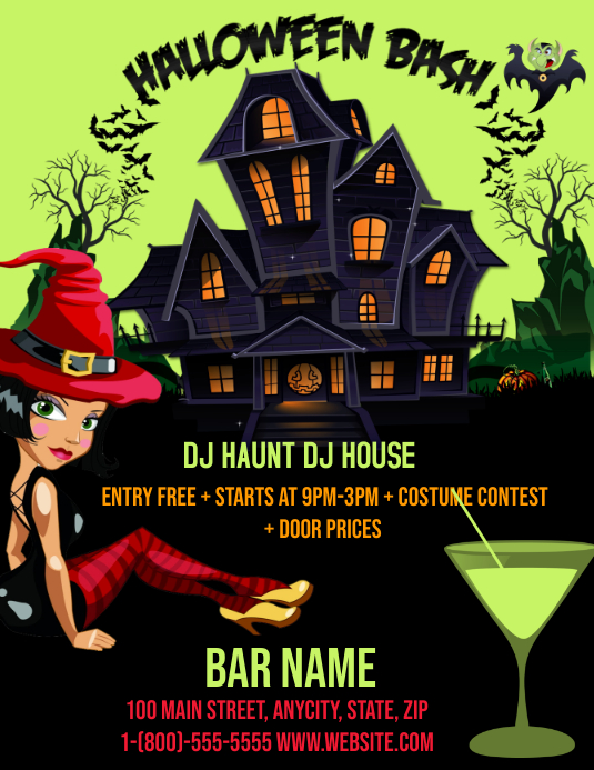 Haunted House Event Flyer Template Postermywall