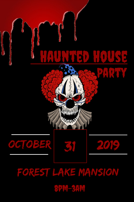 Haunted house flyer template postermywall - New home design center checklist ...