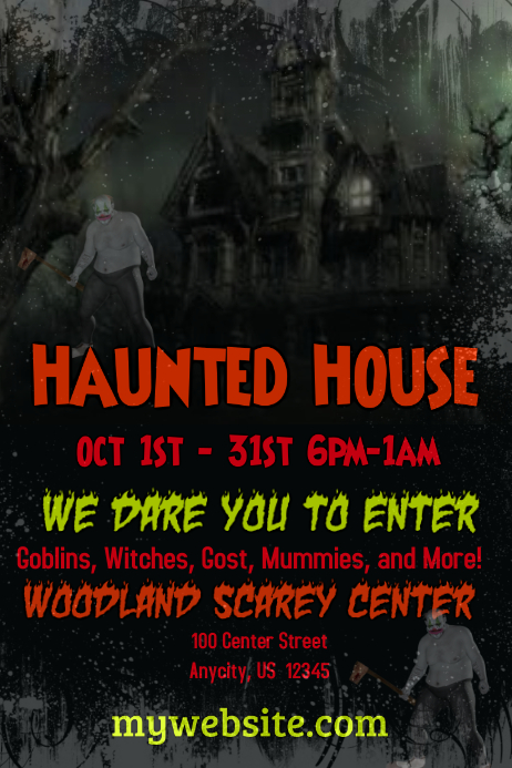 Haunted House Flyer Template Postermywall
