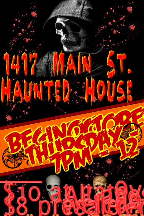 Customizable design templates for house party postermywall haunted house flyer haunted house halloween party flyer template saigontimesfo