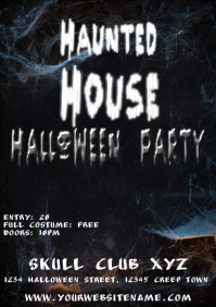 Haunted House Halloween Party Flyer Template