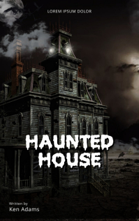 Haunted House Horror Book Cover Template