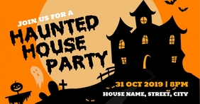 Haunted house party Copertina evento Facebook template