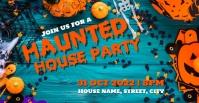 Haunted house party Okładka wydarzenia na Facebooku template