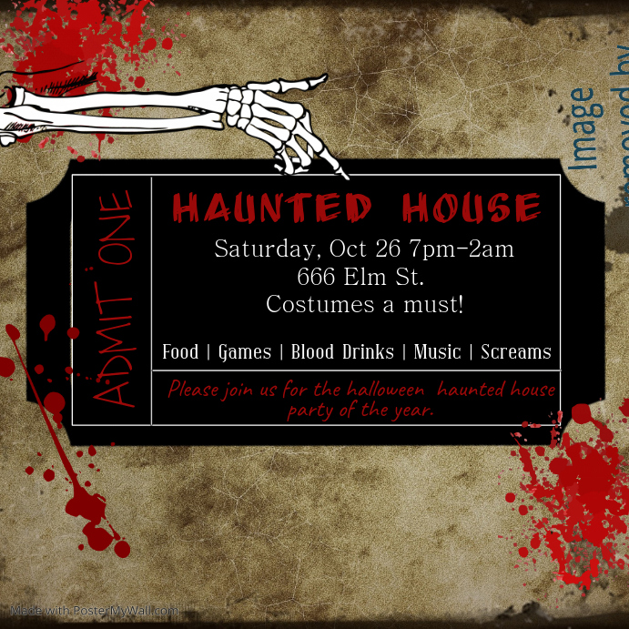 Haunted House Ticket
