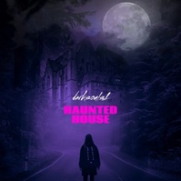Haunted House Video Purple Mixtape CD Cover Квадрат (1 : 1) template