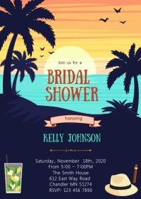 Havana night bridal shower invitation