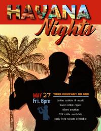 Havana Nights Event Flyer Template