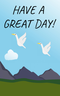 Have a great day poster