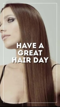 Have a great Hair Day Post Goals Coiffeur ad Historia de Instagram template