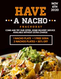 have a nacho nacho day advertisement flyer