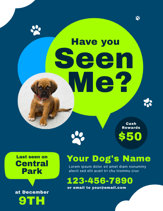 have you seen me poster template