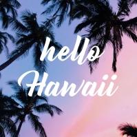 Hawaii Instagram Post template