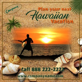 Hawaiian Vacation Digital Ad