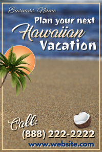 Hawaiian Vacation Travel Poster