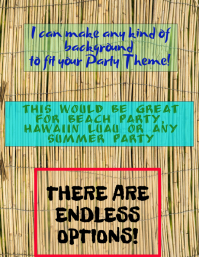 Hawaiin Luau, Summer Party, Beach Party