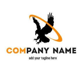 Hawk and eagle animal logo Logotipo template