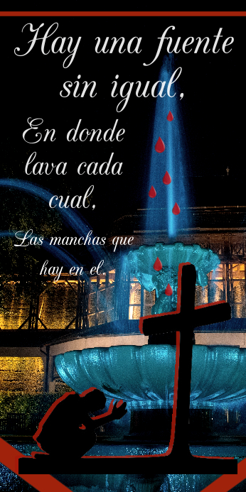 Hay una fuente sin igual/There is a fountain #2 Oprolbanier 3'×6' template