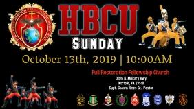 HBCU Flyer Видеообложка профиля Facebook (16:9) template
