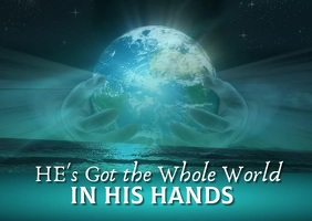He's Got the Whole World FB Image Postcard template