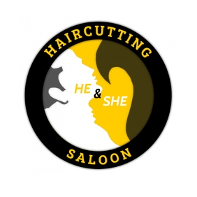 He and She Haircutting Saloon Template