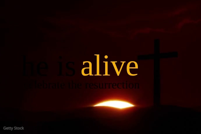 He is Alive Easter Video Poster Template Plakat