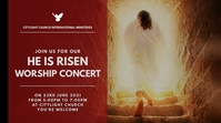 HE IS RISEN church flyer Digital Display (16:9) template