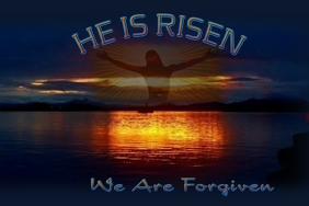 He Is Risen Church Poster template