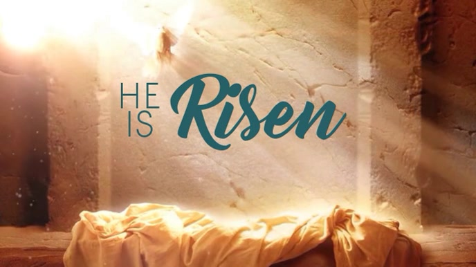 He Is Risen Digital na Display (16:9) template