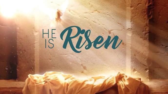 He Is Risen Display digitale (16:9) template