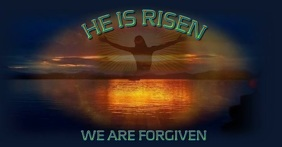 He Is Risen Digital FB Image template