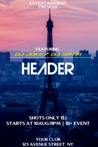 header night flyer template