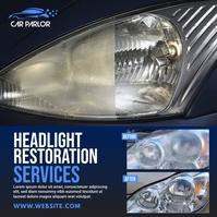 Headlight Restoration Services Ad Instagram Post template