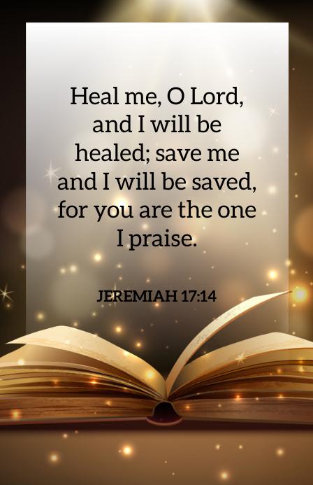 Jeremiah 17:14 Tabloide template