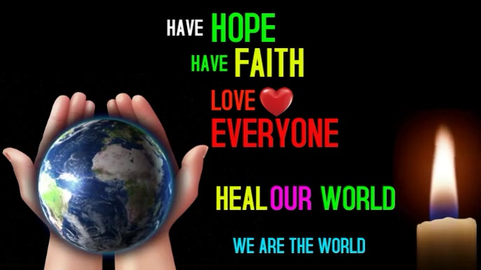 Heal our world planet Tampilan Digital (16:9) template
