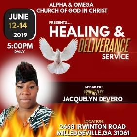 Healing & Deliverance Service Instagram Post template