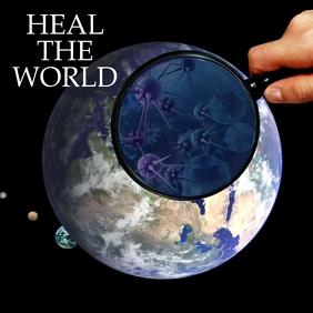 HEALING THE WORLD Message Instagram template