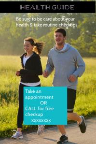 health & fitness poster, flyer, diet & exercise banner